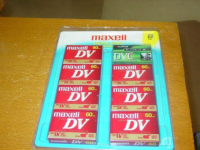 Amazon.com: Maxell MiniDV 60 8-pack: Home Audio & Theater