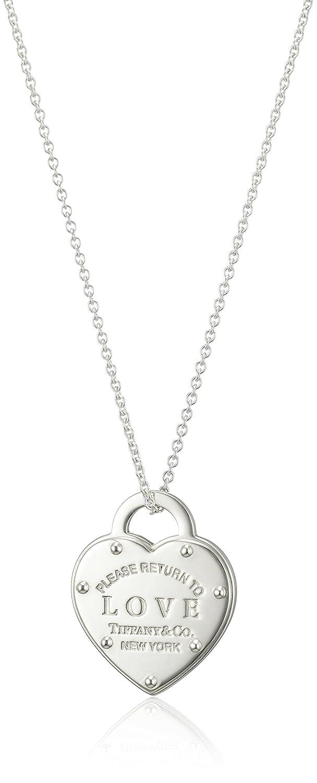 baa94dc861 Tiffany Sterling Silver Rtt Return To Tiffany Love Heart Tag Pendant  Necklace 46~50Cm 36340509: Amazon.co.uk: Jewellery
