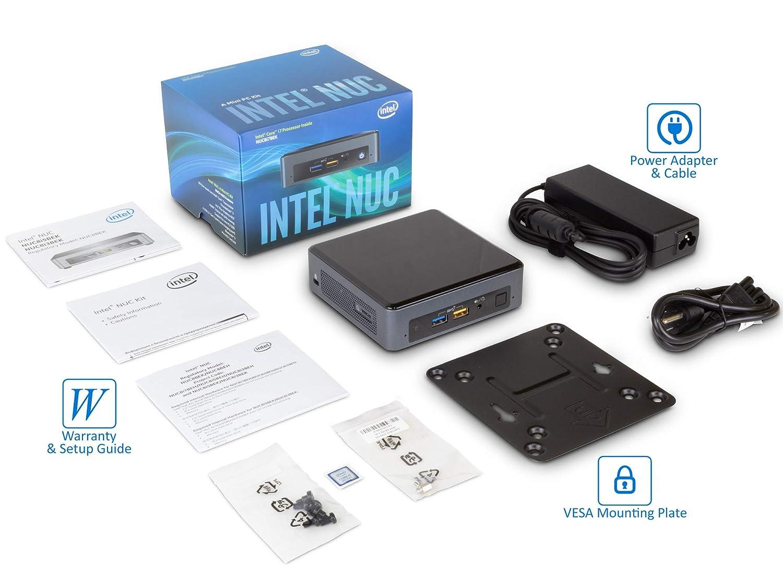 Intel NUC 8i7BEK Mini Desktop 1TB SSD Intel Quad-Core i7-8559U Upto 4.5GHz Card Reader Bluetooth 32GB RAM Wi-Fi HDMI Windows 10 Pro Thunderbolt 3