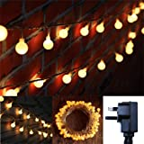 FFNW Safe Voltage Wedding Party Globe Fairy Lights 33 Feet/10 Meters 100leds LED String Lights for Garden, Bedroom, Outdoor, Indoor, Home, Living Room (Warm White)