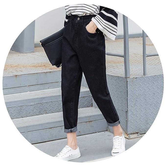 Amazon.com: Pantalones vaqueros para mujer con agujero en la ...