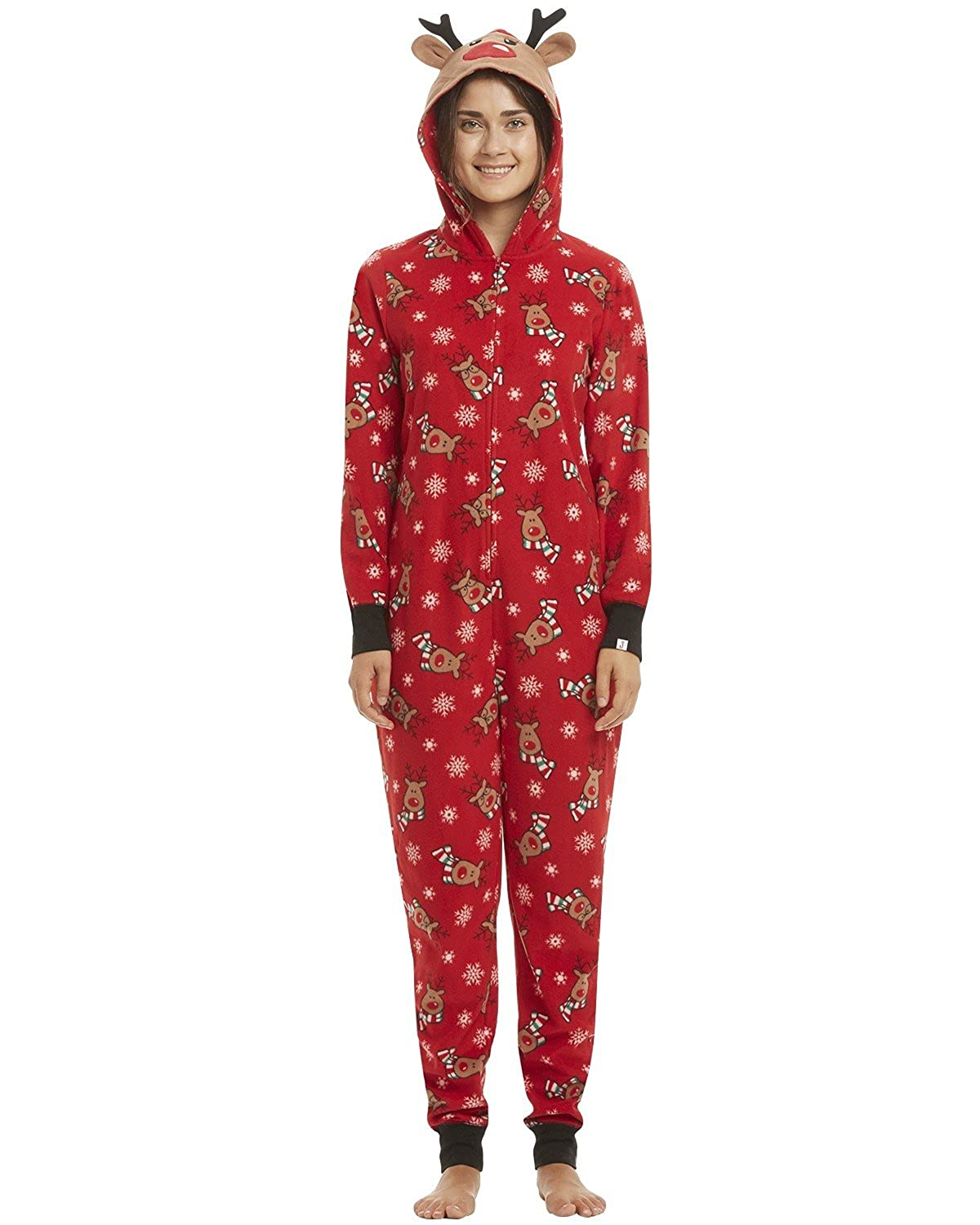 d21d2d7336 Amazon.com  GIKING Christmas Matching Family Pajamas Set Santa s Deer  Sleepwear Jumpsuit Hoodies  Clothing