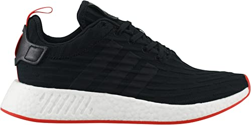 Amazon Com Adidas Nmd R2 Prime Knit Ba72 8 Black White Red