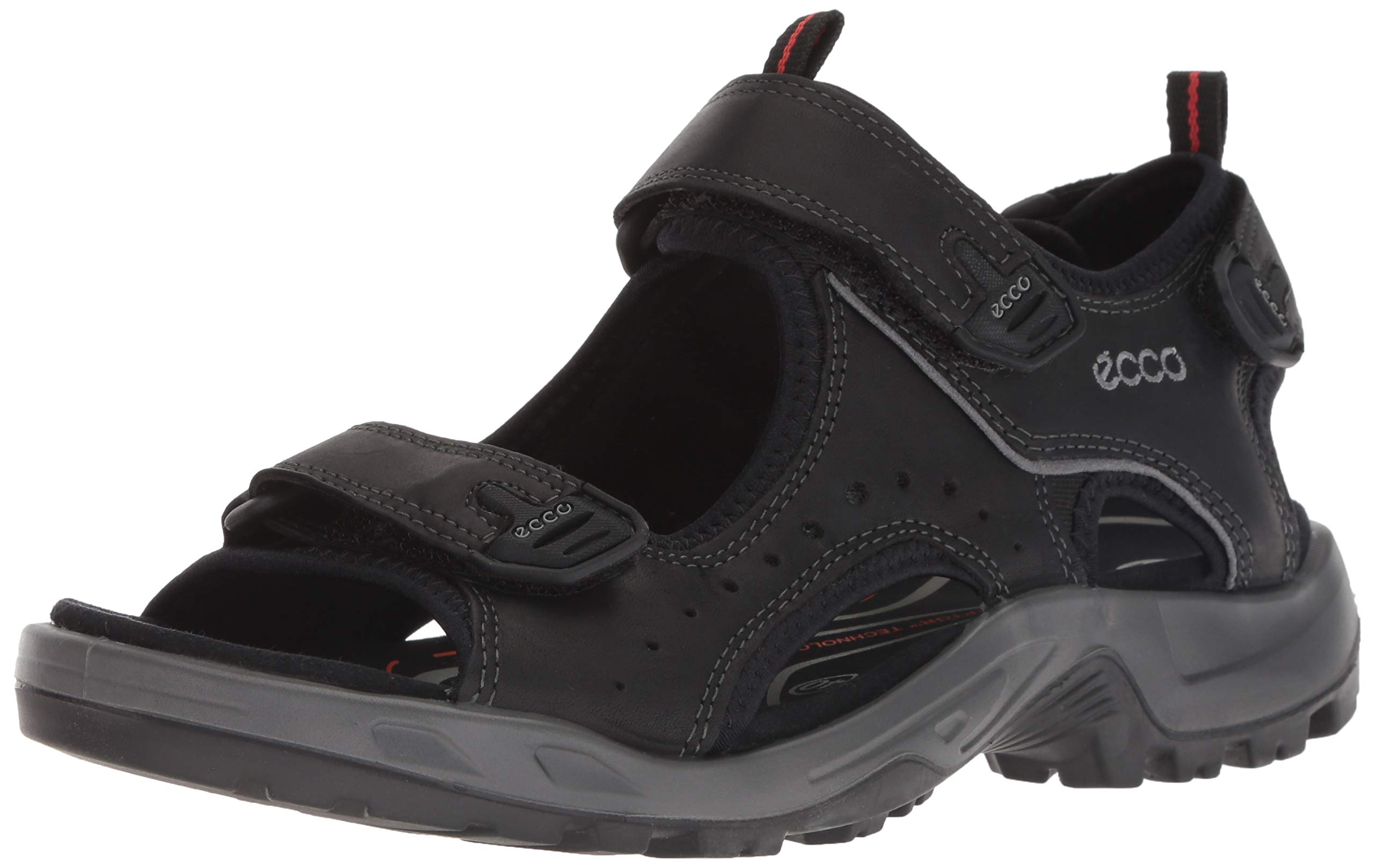 ECCO Men's Yucatan Sport Sandal, Black, 43 EU (US Men's 9-9.5 M)