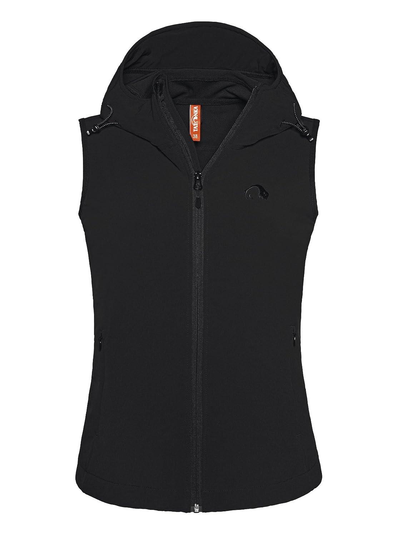 Tatonka Cay W's Vest - leichte Softshell Weste mit Kapuze und Stehkragen für Frauen - PFC-fei - Regular Fit