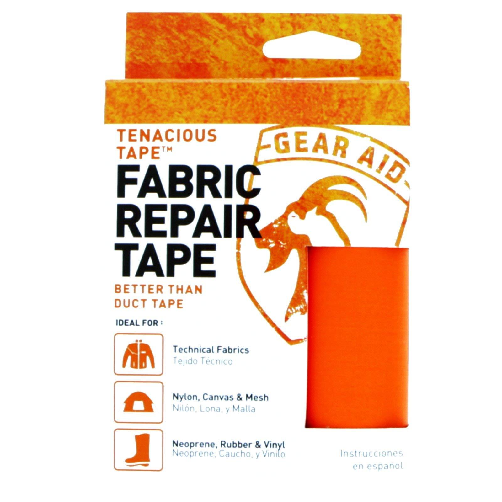 "Gear Aid Tenacious Tape Nylon Repair Tape for Fabric and Vinyl, 3"" x 20"", (Orange) by Gear Aid (Image #1)"