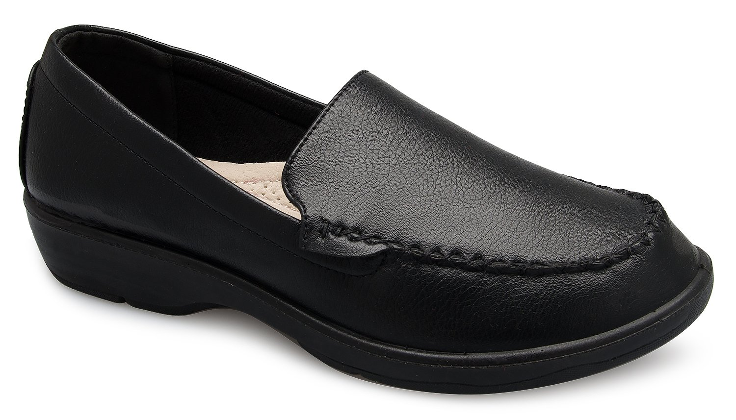 Olivia K Women's Easy Slip On Work Office Uniform Resistant Flatform Daily Life Shoes by Olivia K