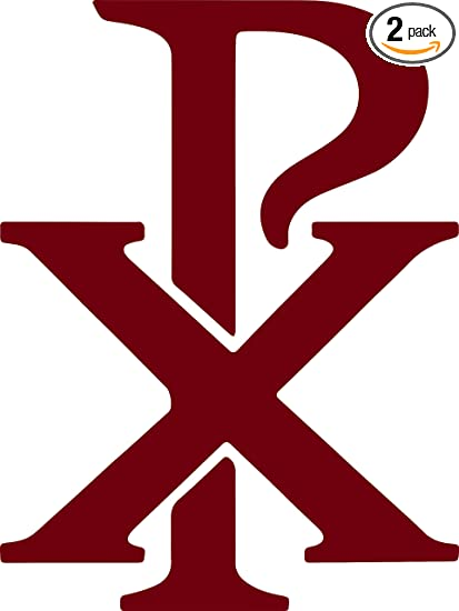 Amazon Angdest Christian Symbol Chi Rho Px Burgundy Set Of 2