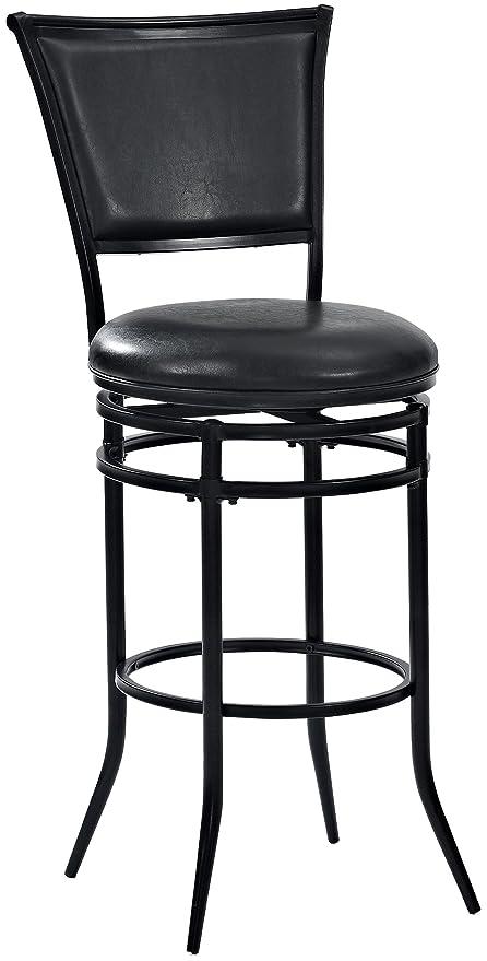 Amazoncom Crosley Furniture Cf520030bk Bk Rachel Swivel Bar Stool