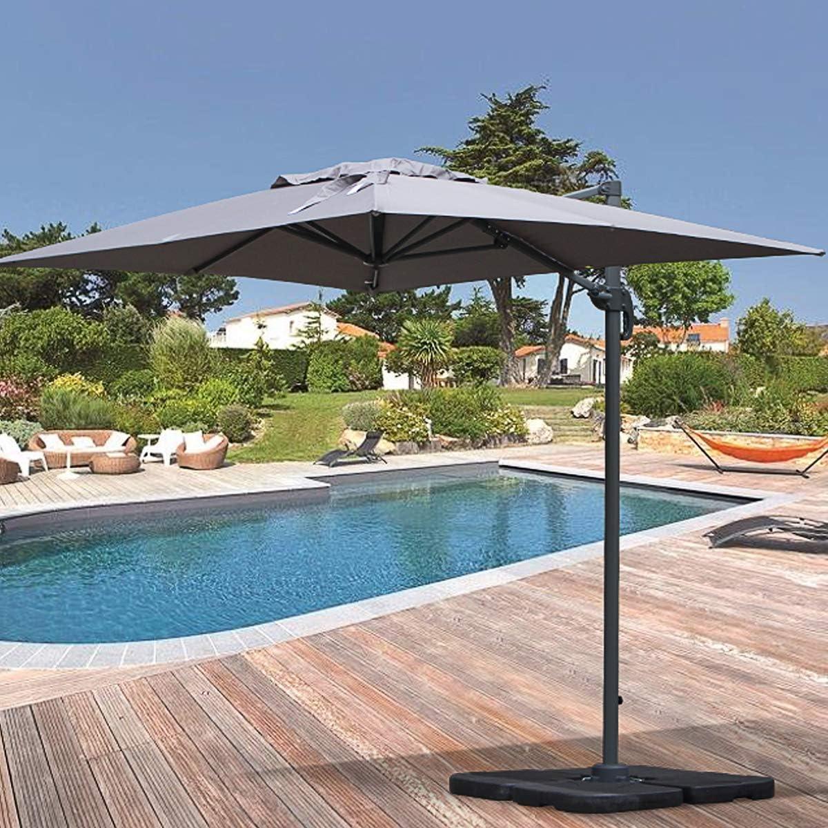 Alices Garden – Parasol excéntrico rectangular, 2 x 3 m ...