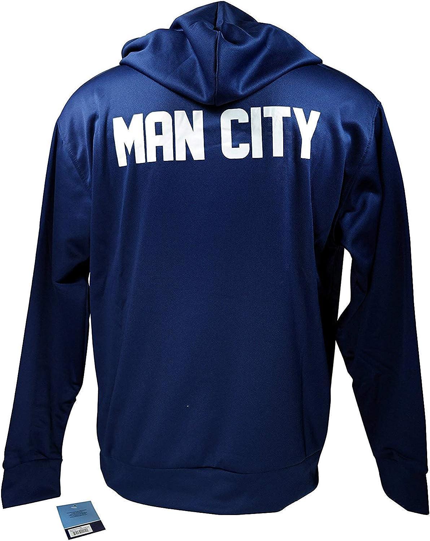 Fleece Jacket Sweatshirt Official Soccer Hoodie Large 023 Manchester City F.C