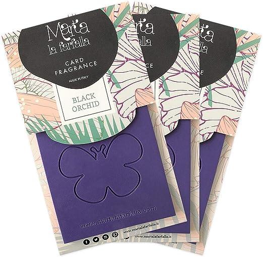 Raumduft Karte Marta La Farfalla Duft Schwarze Orchidee Geeignet Für Zu Hause Und Auto 3 Stück Küche Haushalt