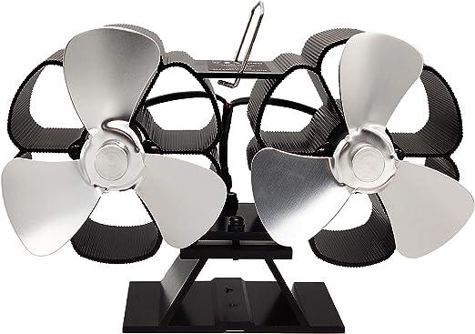 Ventiladores de Chimenea Ventilador de Estufa Con Calefacción Ventilador Chimenea Ventilador Estufa de Leña de Motor Doble,Blanco: Amazon.es: Hogar