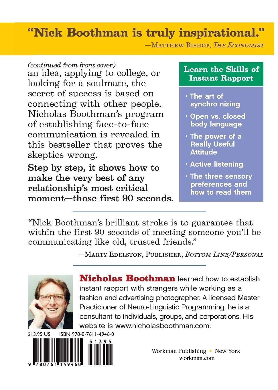 How to Make People Like You in 90 Seconds or Less: Nicholas Boothman