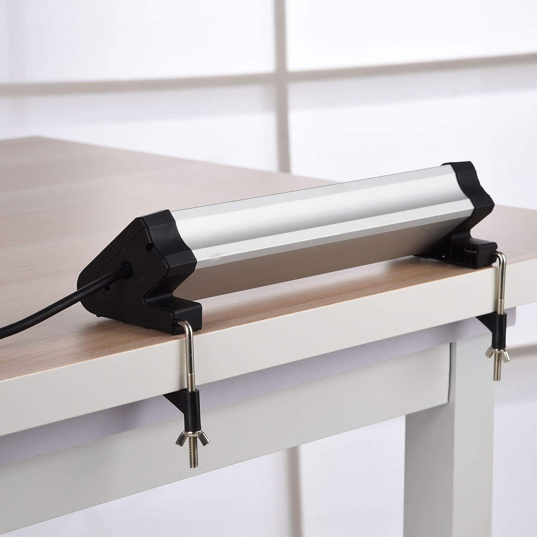 Electraline 61905 Multipresa da Scrivania 4 Posti polivalenti spina piccola 10A con supporti per fissaggio alla scrivania Cavo 2 m Colore nero//argento con 3 USB 3.4A Schuko + 10//16A