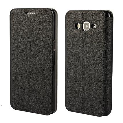brand new 465c3 1b48c MOONCASE Galaxy Grand Prime G530 Case Slim Leather Case for Samsung Galaxy  Grand Prime G530 Side Flip Bracket Cover Black