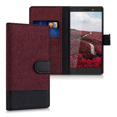 kwmobile Huawei Honor 7 / Honor 7 Premium Hülle - Kunstleder Wallet Case für Huawei Honor 7 / Honor 7 Premium mit Kartenfäche