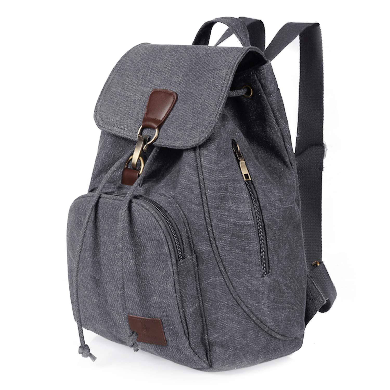 Qyoubi Womens Canvas Fashion Backpacks Purse Casual Outdoor Shopping Daypacks School Girls Travel Multipurpose Bag Grey