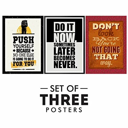 inspirational posters for office. Motivational Posters For Office And Study Room - Set Of 3 Inspirational Wall Quotes| Home