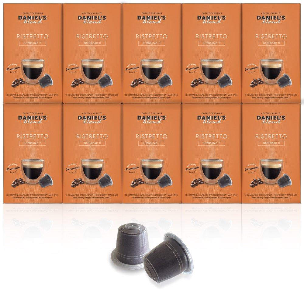 100 cápsulas de café Daniels Blend para Nespresso