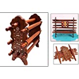 Special Gifts at Good Friday. Wooden Bangle Stand,Eight Rods Foldable Bangle Stand