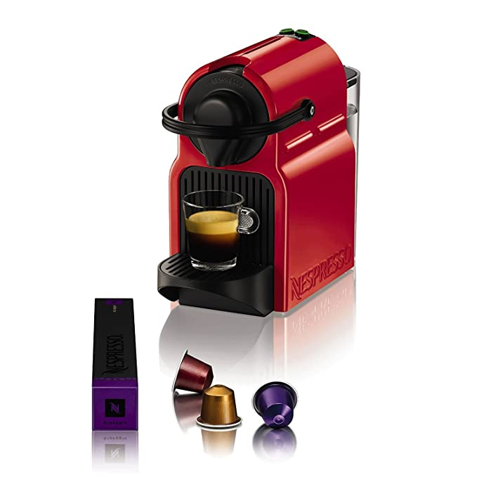Nespresso Inissia Krups XN100510, Cafetera de Cápsulas, Rojo ...