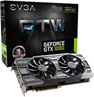 EVGA- GEFORCE GTX1080, 8G-P4-6286-KR Tarjeta Video, FTW 8GB, DDR5X, 256-Bit