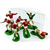 Red Footballers Cake Decoration Decoration Kit