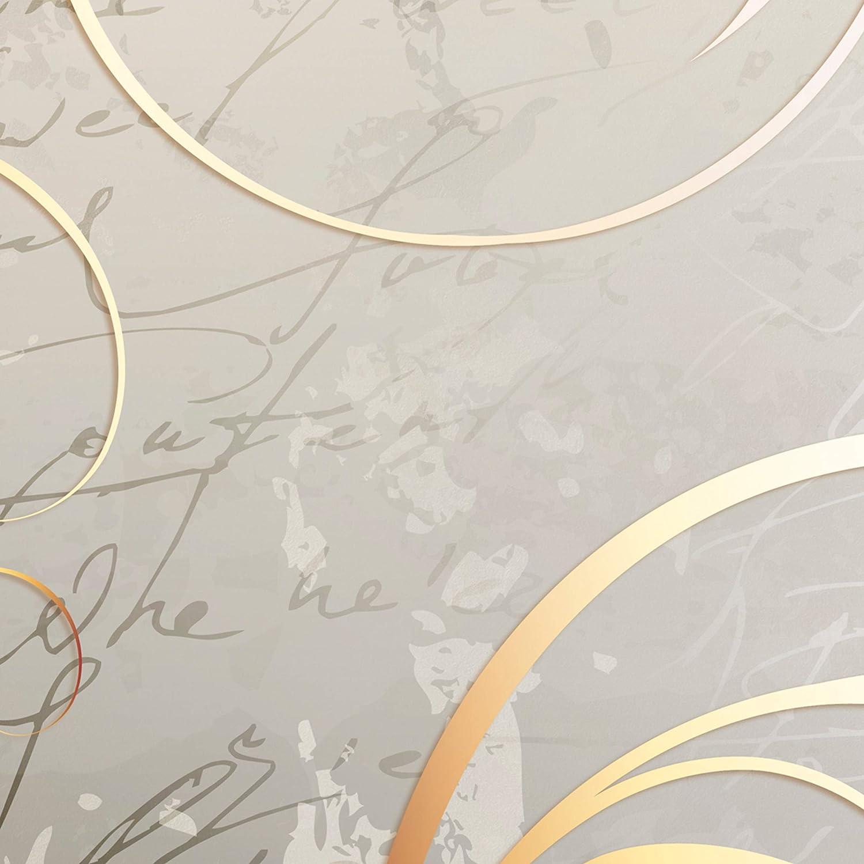 Paravent repliant XXL 225x172 cm cloison pour s/éparer Une Piece Impression sur Le Papier intiss/é 100/% d/écoratif Opaque Foto en Bois avec Interieur Impression Abstrait Motif Or Gris decomonkey