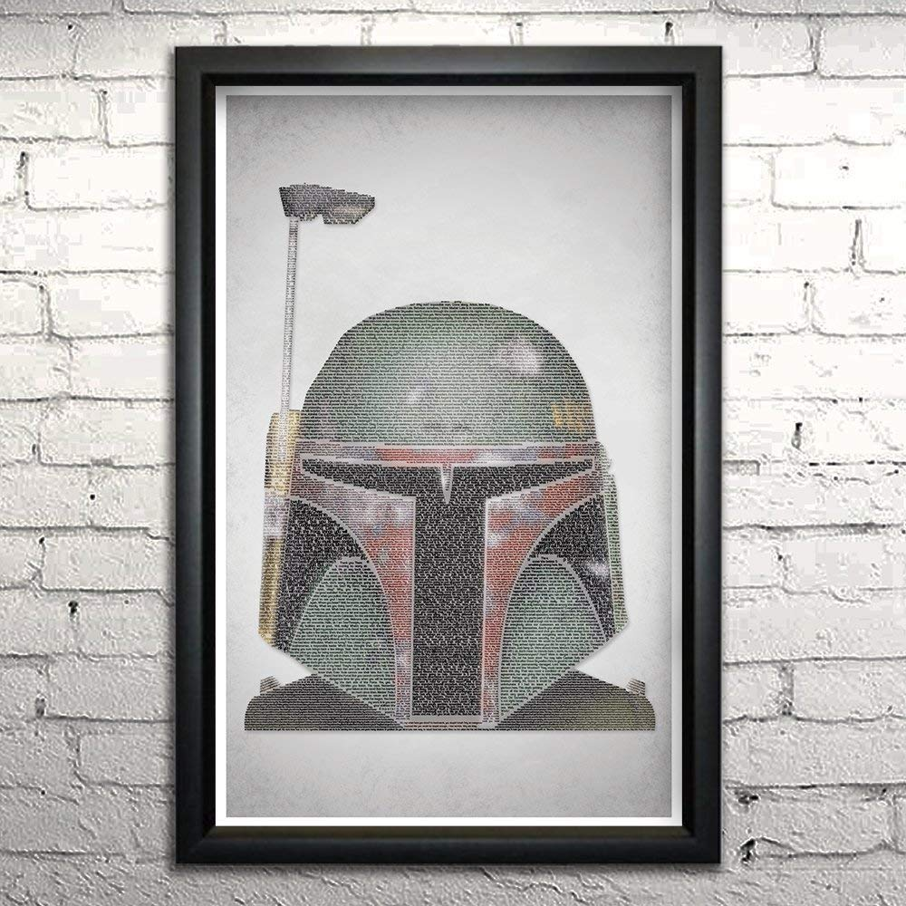 """Empire Strikes Back word art print 11x17"""" Framed 