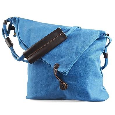 Amazon.com: Vintage lona bolsa de mensajero bolso casual ...