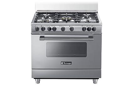Tecnogas PP965MX Cucina freestanding Acciaio inossidabile ...