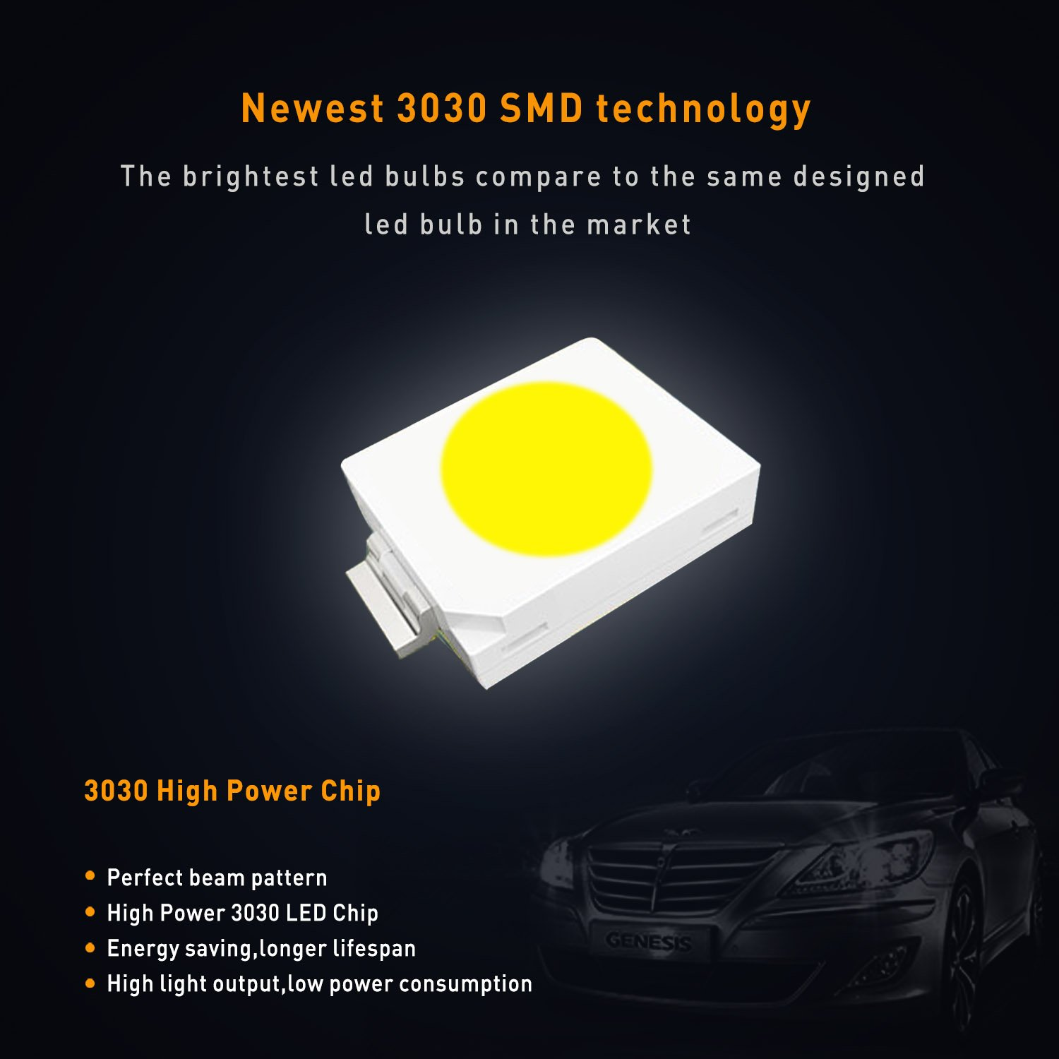 AUXITO Extremely Bright CANBUS Error Free 6-SMD 3030 Chipset 36mm 1.50 Pack of 4 6411 6418 C5W Festoon Xenon White LED Bulbs Replacement for Map Dome License Plate Lights Lamps