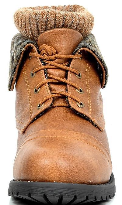 Sueño Pares de Las Mujeres Invierno Cordones Combate Botines Botas: Amazon.es: Zapatos y complementos