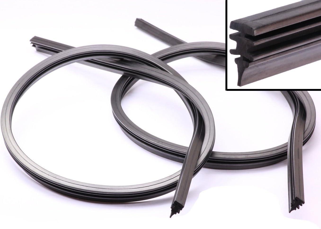 2x 70cm limpiaparabrisas goma wischerblatt para Bosch AEROTWIN seat