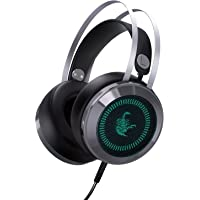 AUKEY Cuffie Headset USB Cuffia Xbox One Gaming Over-ear 3,5 mm Stereo Virtuale Circondare Suono Headphones Gaming Illuminato a LED con Microfono Integrato e Porta USB per PC/Xbox One /PS4/Mobile