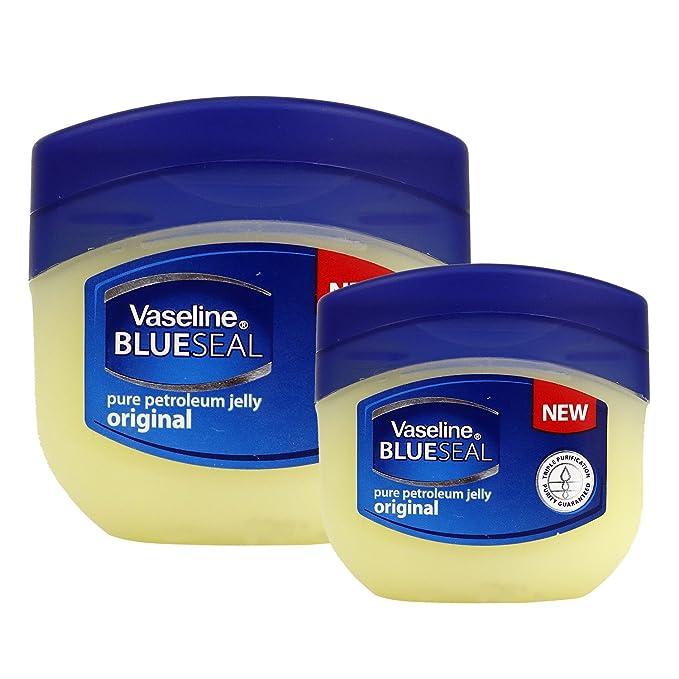 (3 PACK) VASELINE BlueSeal Gentle Petroleum Jelly (Origonal), Lip therapy Portable Small Vaseline 1.7oz