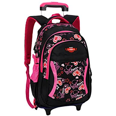 Amazon.com | Coofit Rolling Backpack Cute School Backpack Kids ...