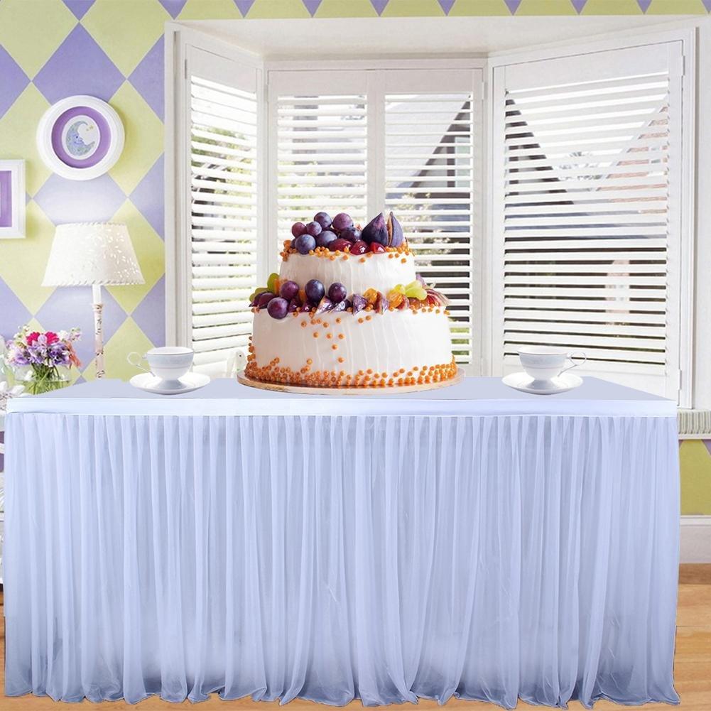 Tischröcke Romantische Tüll Tischrock Tischdekoration Party Dekorationen für Hochzeit Geburtstag Party Leiyini