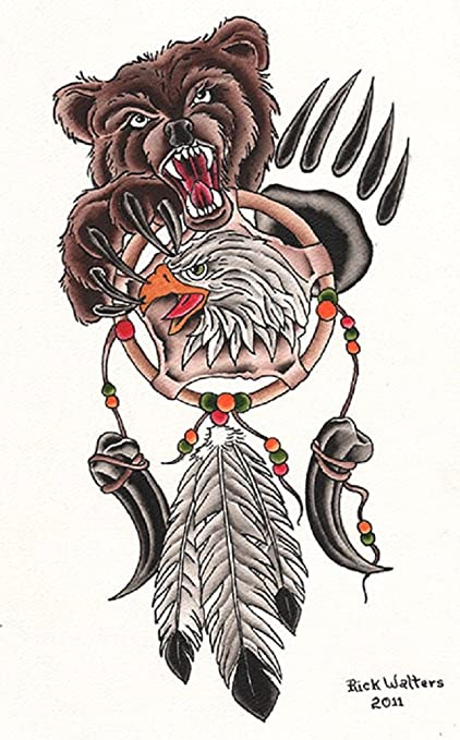 a8d7d9081 Image Unavailable. Image not available for. Color: Dream Catcher by Rick  Walters Tattoo Native American ...