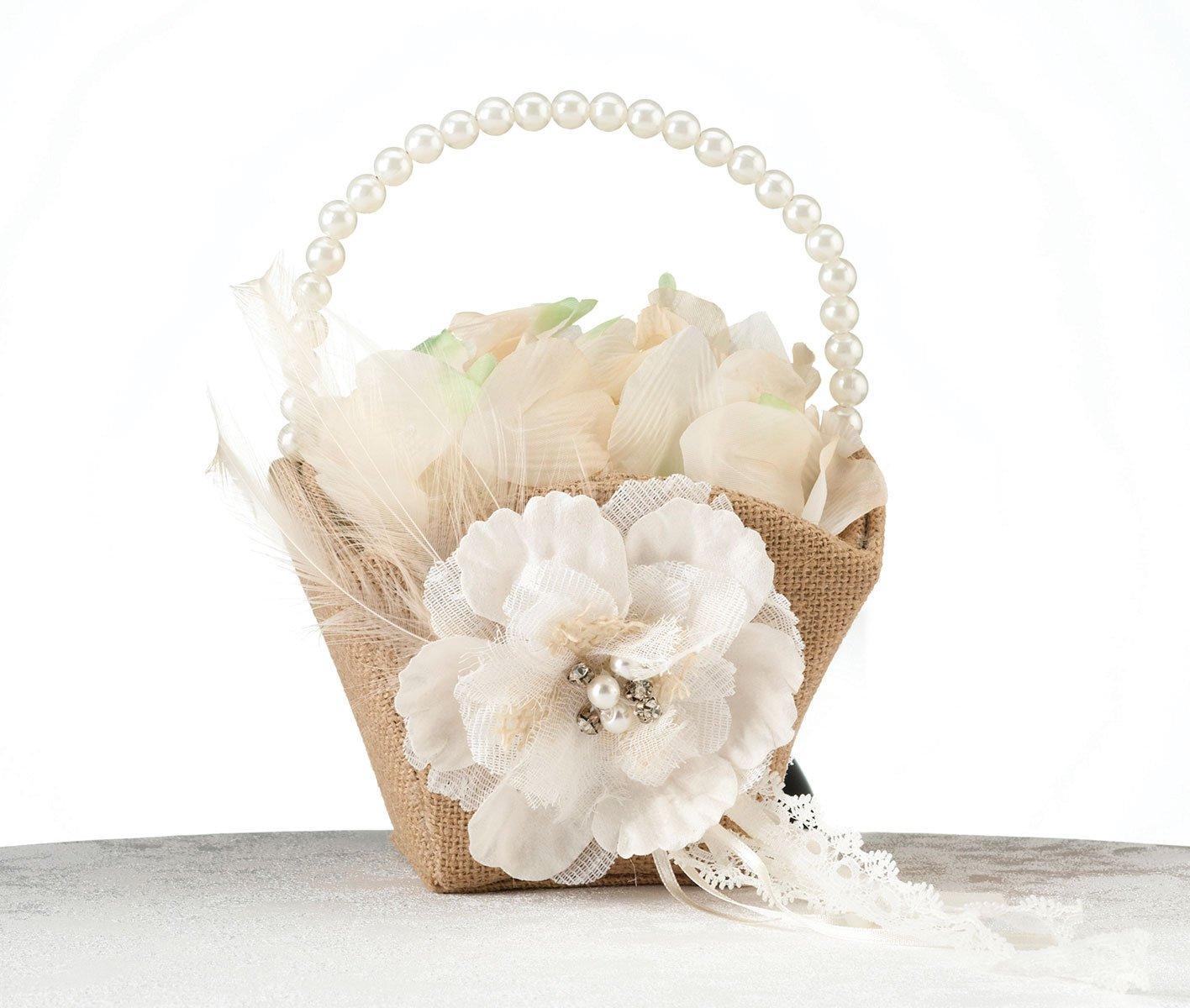 Amazon Lillian Rose Rustic Burlap Lace Wedding Flower Girl