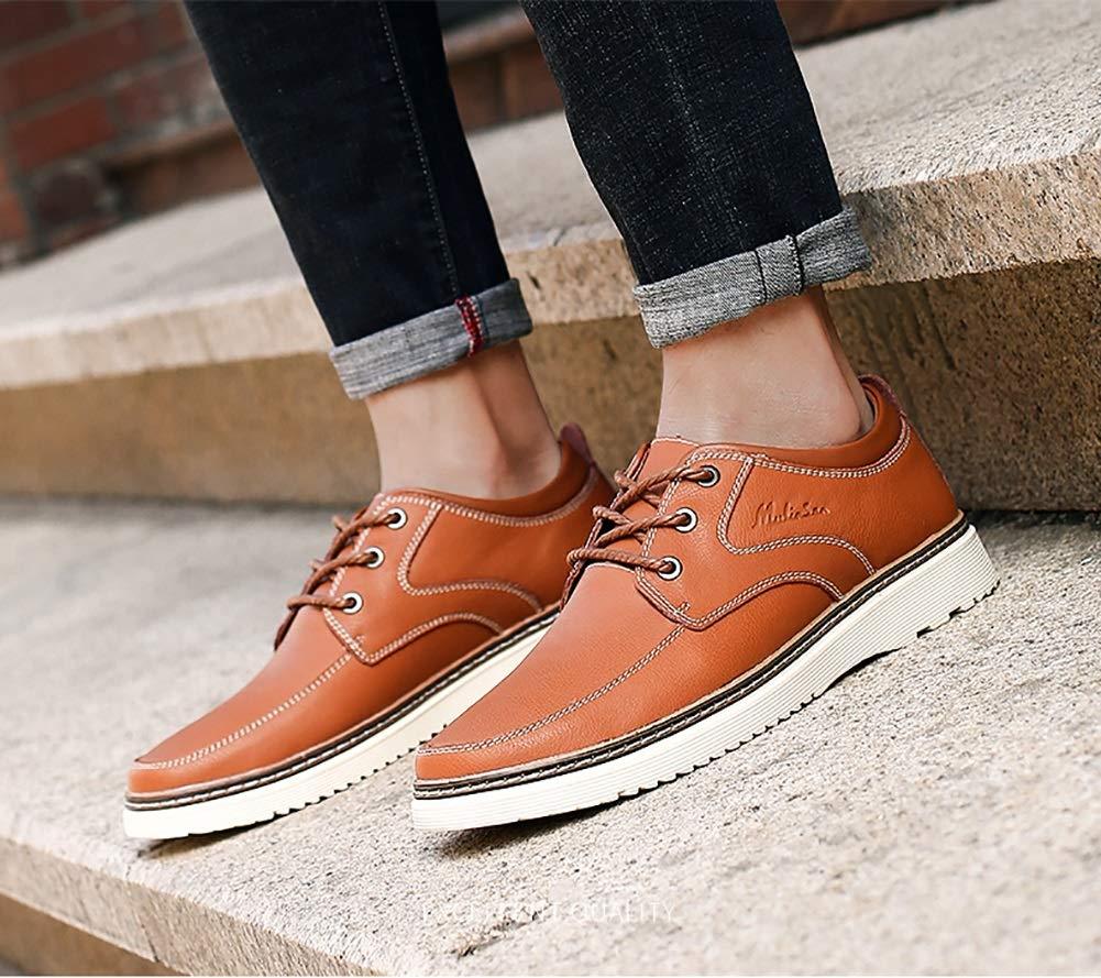 LXLA-     Herren Casual Runde Kopf Lederschuhe, Herren Bequeme Tooling Schuhe Für Männer (Farbe : Blau, größe : 6.5 US/5.5 UK) Braun b9eebf