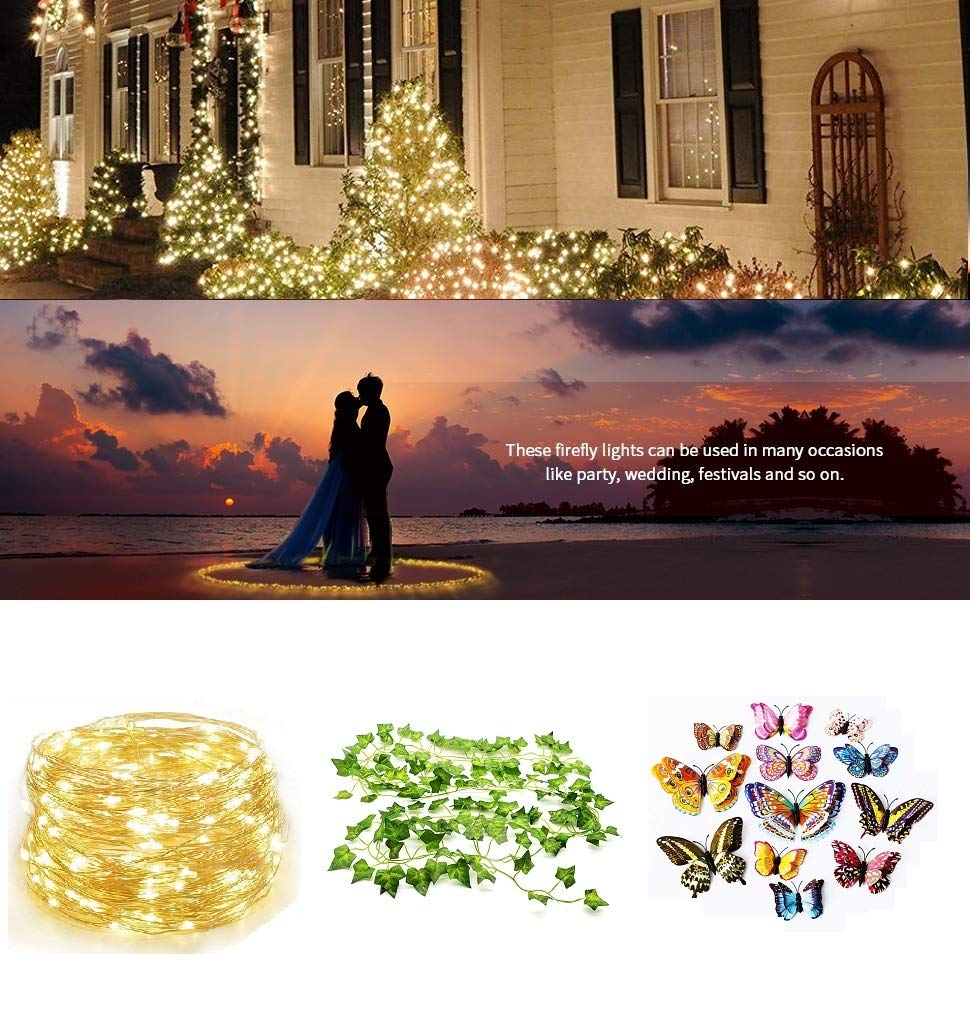Artificial-IVY-Garland-Fake-Leaves-84-ft-12-Strands-Greenery-Garland-Fake-Vines-Plants-Foliage-with-LED-IVY-Lights-String-and-Colorful-Butterfly-for-Wedding-Backdrop-Outdoor-Home-Kitchen-Garden