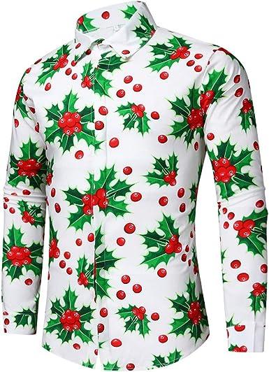 BaZhaHei Blusa navideña para Hombre, Hombre muñeco de Nieve ...