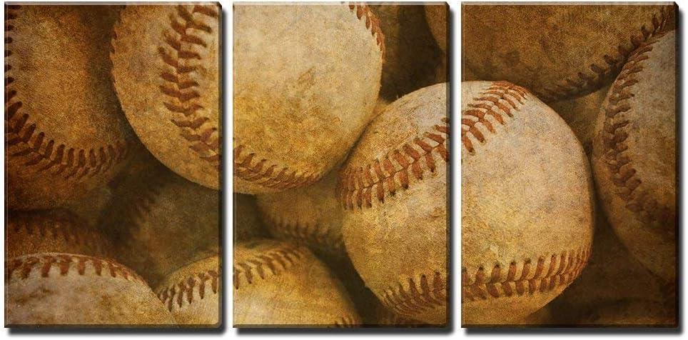 wall26 - Aged Retro Baseball Background - Canvas Art Wall Art - 16