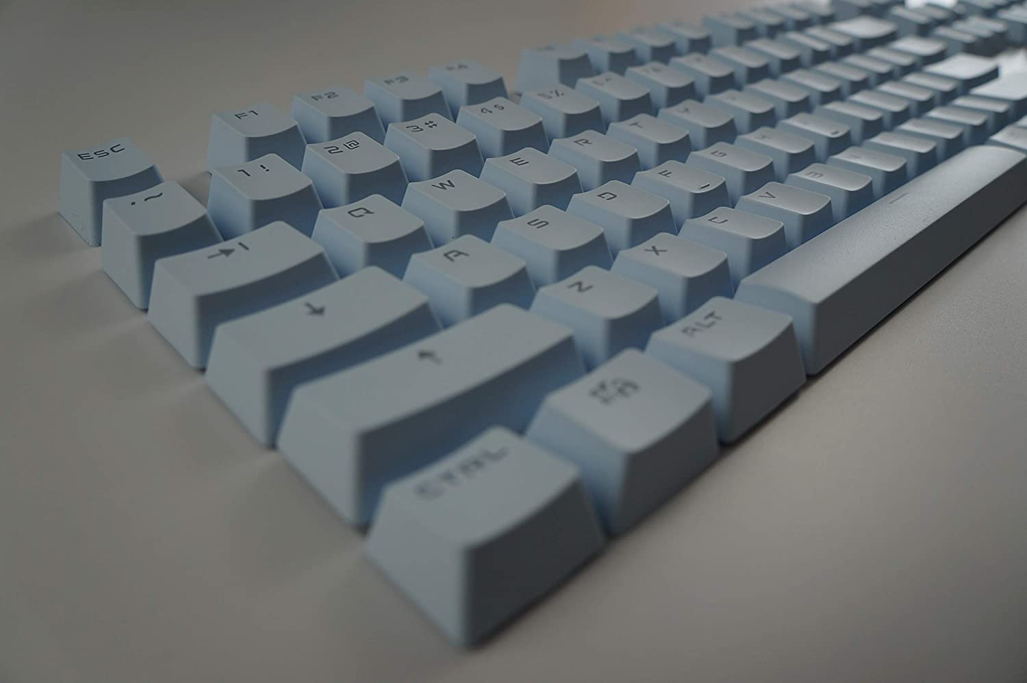Compatible Cherry MX Switches White - OEM Profile 104 PBT Double Shot Backlit Keycaps for Mechanical Gaming Keyboard