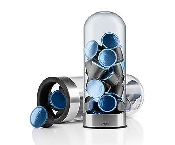Eva Solo 501101 Dispensador de cápsulas para café, para 25 cápsulas Nespresso, Transparente/Plateado opaco: Amazon.es: Hogar
