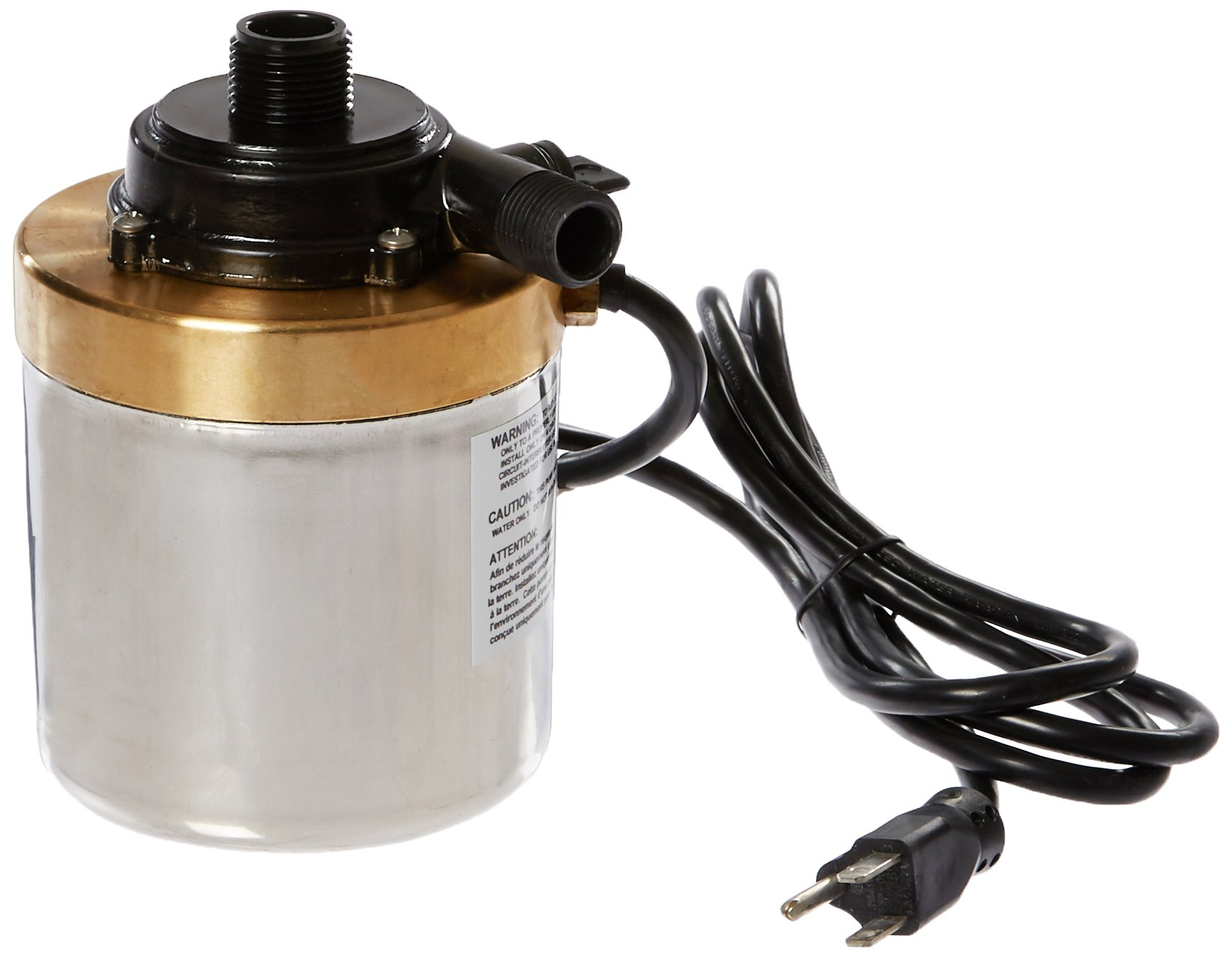 Little Giant 517008 Stainless Steel 900GPH Pump with 6-Feet Cord, Bronze