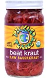 "Organic Raw Sauerkraut, ""Beat Kraut"" Variety, 16 Oz Glass Jar"