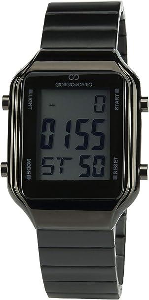 Reloj Hombre Giorgio&Dario Negro Cuarzo Caja Acero Digital Pulsera Acero Negro Fecha
